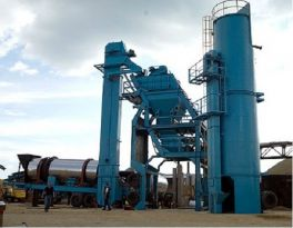 One set of 80t/h mobile asphalt batch mix plant installed in Thailand