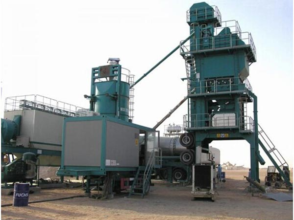 Small asphalt plant, productivity below