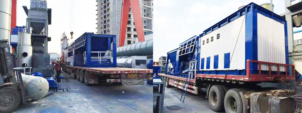 LB2000 asphalt plant loaded forSaudi Arab customer
